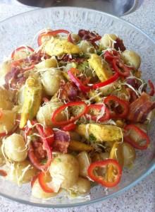 Kylling bacon salat 26-04-14